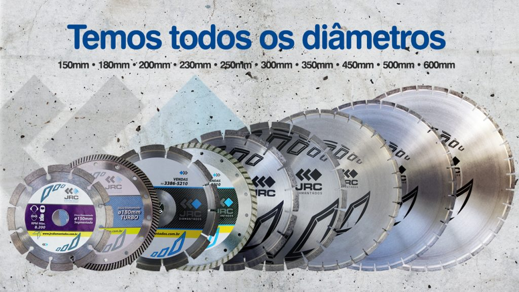 Serra Diamantada Diametros